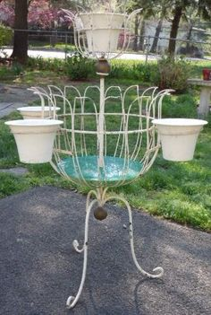 Vintage Antique Metal Wire Plant Stand Www Missionmodster Etsy Water