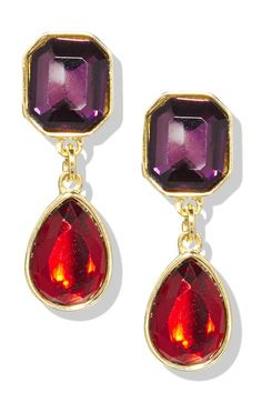 Gifts For Moms (And MILS and Aunts)- Classic and stunning, just like she is. Liz Claiborne Earrings, $20; jcpenney.com.  Click through to redbookmag.com for more affordable gift ideas that won't break the bank.