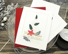 Very Merry Christmas Card by Lizzie Jones for Papertrey Ink (November Merry Christmas Card, Christmas Paper, Christmas Ideas, Paper Art, Card Ideas, November, Banner, Homes, Fantasy