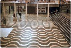 wavy wood floor
