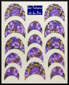 STICKERS ONGLES WATER DECAL (x14) - Nail art - Fleurs - Multicolore