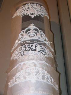 royal icing tiaras. Make to sit on top of a cake.