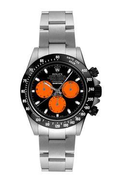 Steel Daytona With Orange And Black Dial