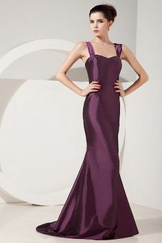 Purple Taffeta Straps Homecoming Dress - Order Link: http://www.theweddingdresses.com/purple-taffeta-straps-homecoming-dress-twdn2043.html - Embellishments: Beading , Ruched; Length: Floor Length; Fabric: Taffeta; Waist: Natural - Price: 150.74USD