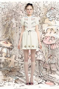 RED Valentino Fall/Winter 2013-14 Collection Folkloric Fairy Tale