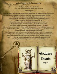 Goddess Hecate        page 4  Use with caution and a great deal of good common sense.