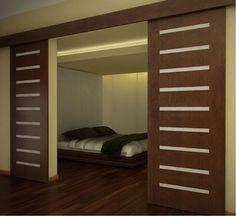 Znalezione obrazy dla zapytania drzwi rozsuwane małe mieszkanie