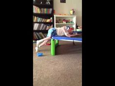 Landon getting on the trampoline - YouTube