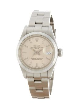 Rolex Women's Oyster Perpetual Date Stainless Steel Watch by Vintage Watches on @HauteLook