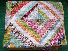 Bright string quilt
