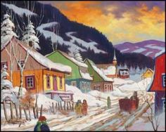Claude Langevin - artwork prices, pictures and values. Art market estimated value about Claude Langevin works of art. Clarence Gagnon, Winter Trees, Canadian Artists, Art Market, Quebec, Painting Prints, Images, America, Painters