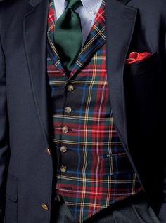 Fashion Tips For Teens Shirts Black Stewart Tartan Waistcoat Der Gentleman, Gentleman Style, Sharp Dressed Man, Well Dressed Men, Tartan Fashion, Mens Fashion, Fashion 2018, Gothic Fashion, Fashion Tips