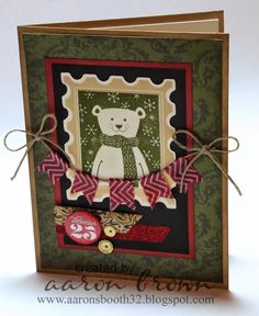 Booth #32: Happy Polar Bear Card, Yuletide, Home For The Holidays, Christmas, CTMH