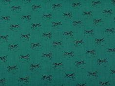 Antique-Conversationals-RJR-BTY-Civil-War-Black-Dog-Red-Collar-on-Green-Shirting