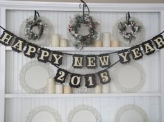 HAPPY NEW YEAR 2015 Banner by ParamoreArtWorks on Etsy, $28.00