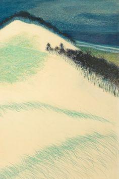 Léon Spilliaert (1881-1946) - Lapin dans les dunes, Encre de Chine, lavis, pinceau, crayon de couleur, crayon gras, pastel, aquarelle, pinceau sur papier, 1909