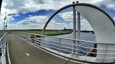 Soest, The Netherlands. Bridge over river Eem. By Winfred Vels with Sony HDR AS100V.