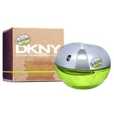 DKNY Be Delicious perfume--my FAVORITE perfume. The only perfume I've ever bought three times in a row.
