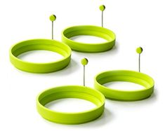 Magic Cuisine 4Pack Vibrant Green  Neon Green Silicone Egg Ring  Egg Mold  Silicone Pancake Mold >>> See this great product.