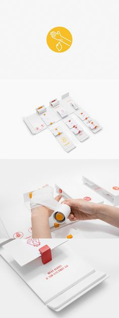 Innovative First aid kit design.  Gabriele is passionate about design and has a hands-on approach to developing a project. Her design evolves and is realised through interaction and experimentation.