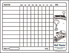 Free Behavior Charts  Kid Stuff    Behaviour Chart