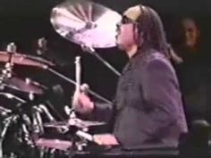Stevie Wonder playing a drum solo! Incredible! - YouTube