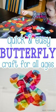 Easy Butterfly Craft - what a simple, beautiful art activity for toddlers and preschoolers!