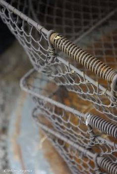 Wire baskets, Photograph by Magdalena Kroswski