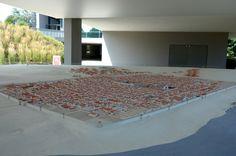 Der Archäologische Park Carnuntum im Juli 2014 - Modell der römischen Stadt (municipium) Carnuntum