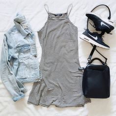 Dresses and sneakers