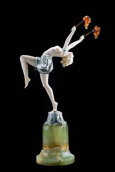 Ferdinand Preiss (1882-1943), 'Torch Dancer', circa 1925,