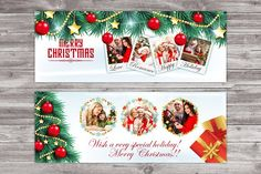 Christmas Facebook Timeline Cover by Madhabi Studio on @creativemarket