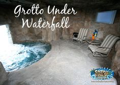 grotto under waterfall
