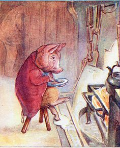 The Tale of Pigling Bland - Pigling Bland ate his supper discreetly.