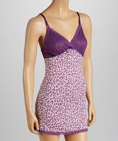 Look what I found on #zulily! Purple Magic Leopard Chemise - Women #zulilyfinds