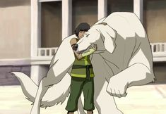 ALL the sweet Naga love. A girl and her animal companion :) Korra Avatar, Team Avatar, Polar Bear Dogs, Avatar Images, Dark Spirit, Avatar The Last Airbender Art, Childhood Movies, Cartoon Movies, The Legend Of Korra