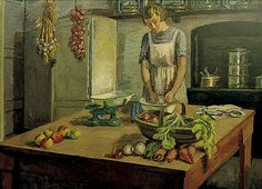The Kitchen at Charleston, East Sussex  by Vanessa Bell  ca.1943