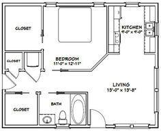 Guest House Plans, Small House Floor Plans, Cottage Floor Plans, Shed House Plans, Craftsman House Plans, Garage Plans, Guest Cottage Plans, Apartment Floor Plans, Bedroom Floor Plans