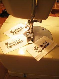 Como meter tela en la impresora para hacer tus propias etiquetas de ropa.