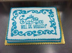 Going Away Party Sheet Cake by Stephanie Dillon LS1 Hy-Vee