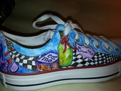 Alice in Wonderland Hand Painted shoes Mad by GalleryWalkers