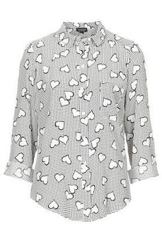 Monochrome Heart Gingham Shirt - New In This Week - New In