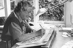 Rena Gardiner (1929-99) dedicated her life to her art, doing so alone in a thatched cottage in the heart of Dorset. Combining the great tradition of British topographic artists with the rich era of autolithography of the 1940s and 1950s, she created her own personal  visual style, which is instantly recognisable for its exuberant use of colour and texture. Her principal achievement was some 45 books, all of which she wrote, illustrated and printed herself.