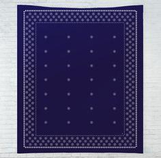 Indigo Block Print Tapestry