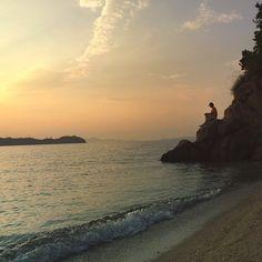 Sunset beach, Shodo-island, Japan 夕陽海岸 / 香川県 小豆郡 戸形崎あたり