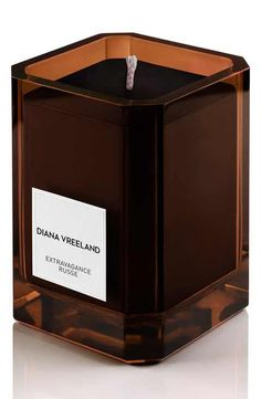 Extravagance Russe Candle, by Diana Vreeland Parfums at Bergdorf Goodman. Diana Vreeland, Candle Labels, Candle Diffuser, Home Scents, Home Candles, Custom Glass, Burning Candle, Hand Blown Glass, Fragrance Oil