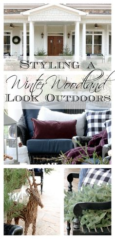 winter-woodland styling outdoor patio