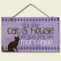 Cat Wood Sign The Cats House 41136