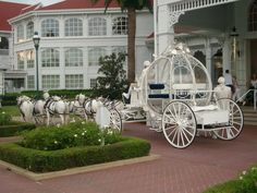 Cinderella's carriage. Yes I had it! :)  No fairy-tale wedding is complete without it ;)