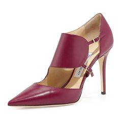 Fancy - Heath Leather Monk-Strap Pump by Jimmy Choo